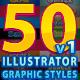 50 Illustrator Graphic Styles Bundle Vol.1 - GraphicRiver Item for Sale