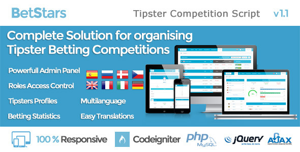 Bet Stars - Tipster Competition Script - CodeCanyon Item for Sale