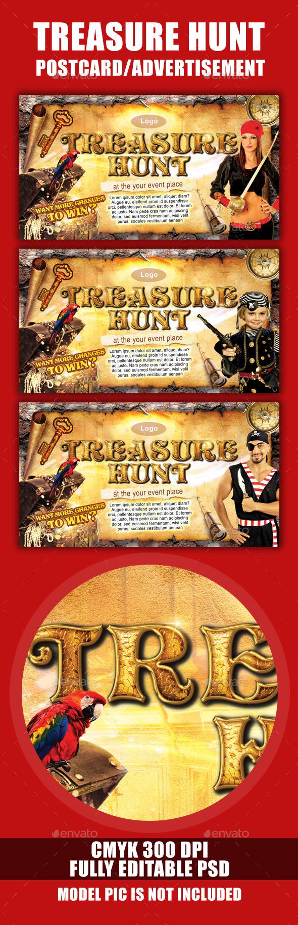 Treasure Hunt - Events Flyers
