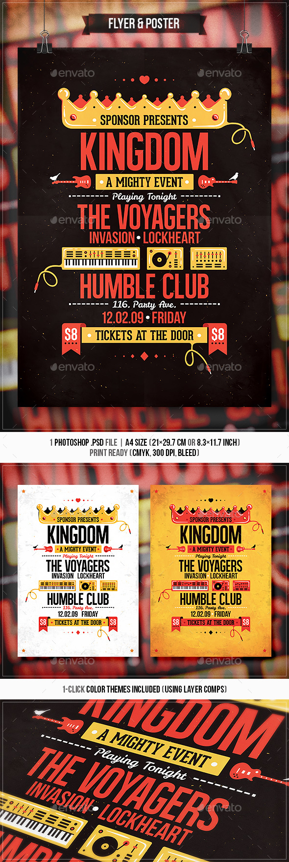 Kingdom - Flyer & Poster - Concerts Events