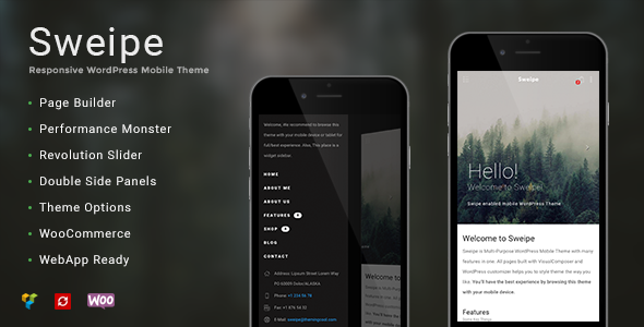 Sweipe – Responsive WordPress Mobile Theme