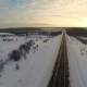 Winter Snow Landscape. Aerial View Fly Over - VideoHive Item for Sale