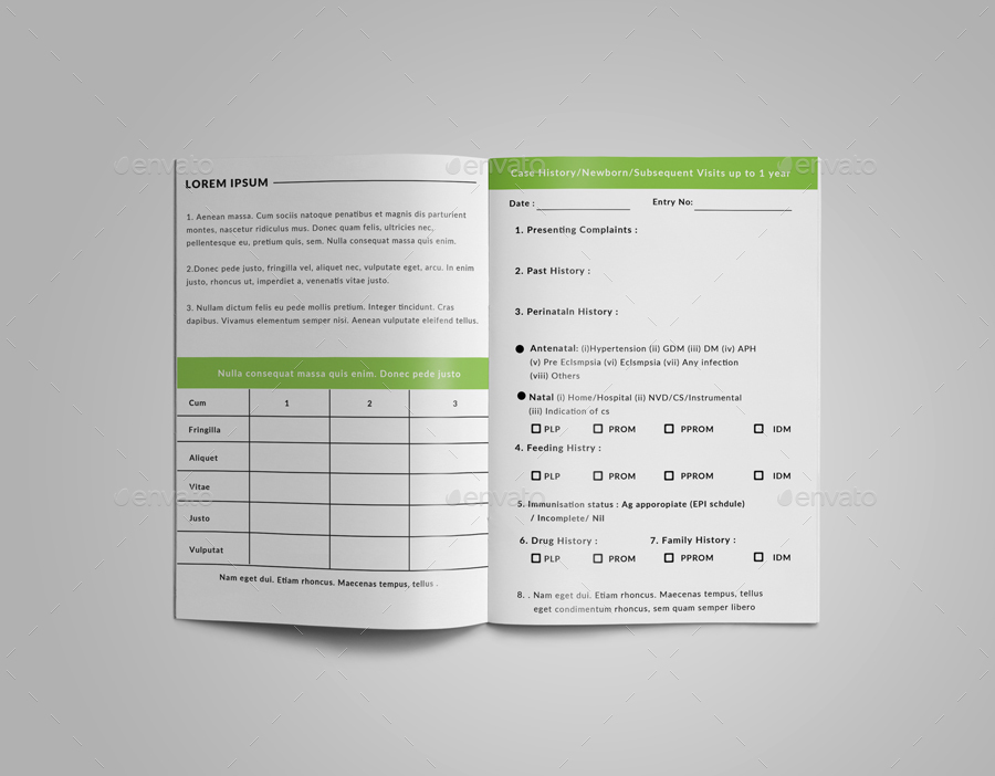 medical treatment record prescription book   infant  child by unicotemplates