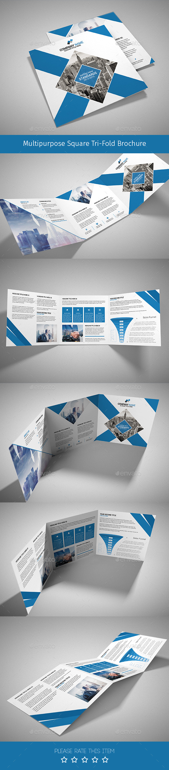 Corporate Tri-fold Square Brochure 08 - Corporate Brochures