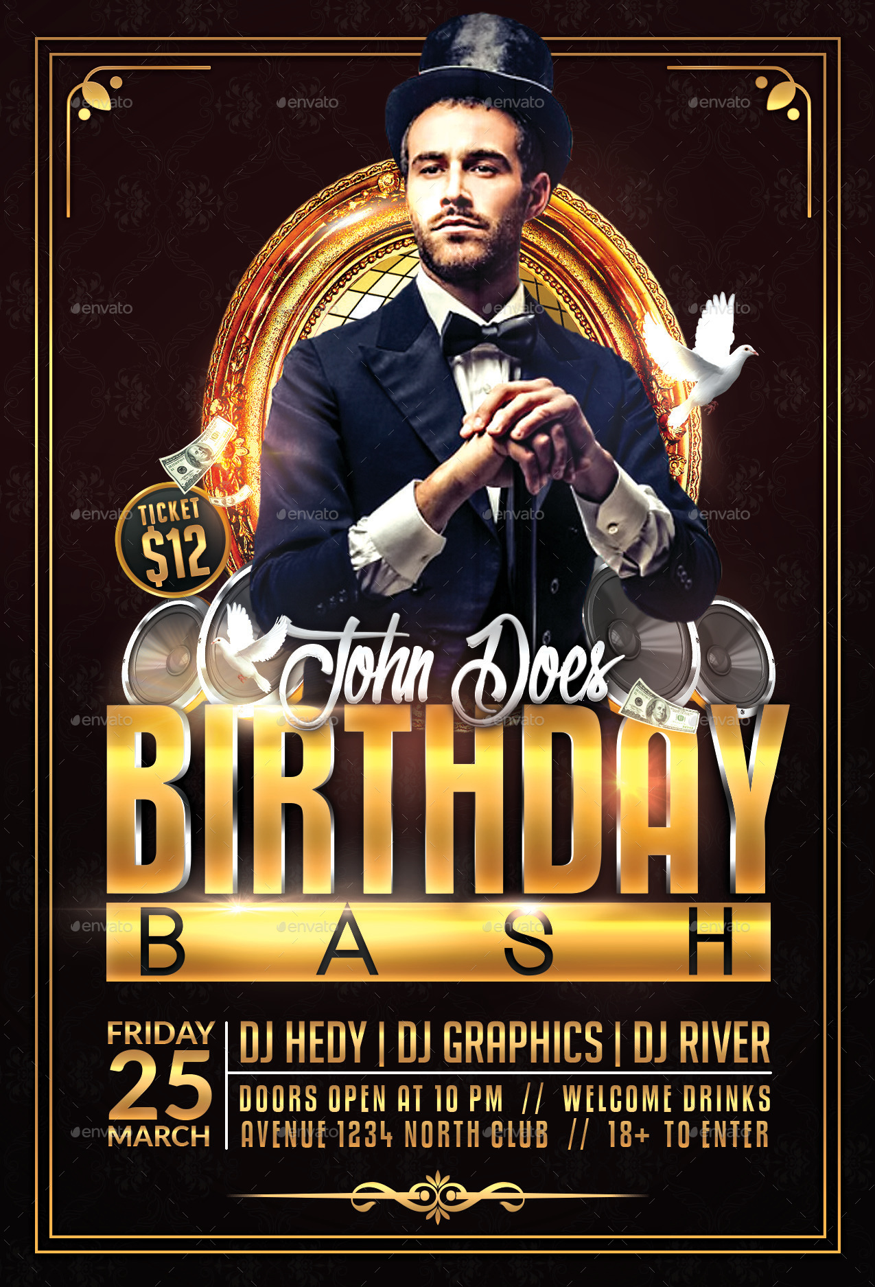Birthday bash flyer template by hedygraphics graphicriver previewsbday bashg maxwellsz