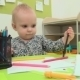 Little Baby Plays With Pencils - VideoHive Item for Sale