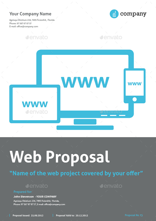 Web Design Proposal By Mrtemplater  Graphicriver