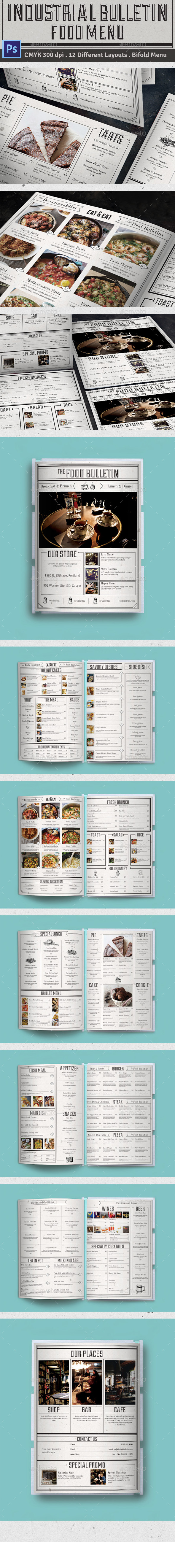 Bulletin Food Menu - Food Menus Print Templates