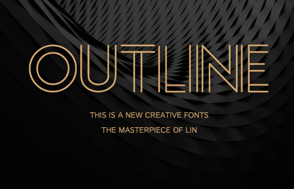 Outline Creative Font By Lyb Design Graphicriver