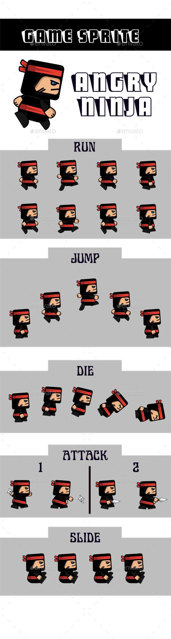 Ninja Game Sprite - Sprites Game Assets