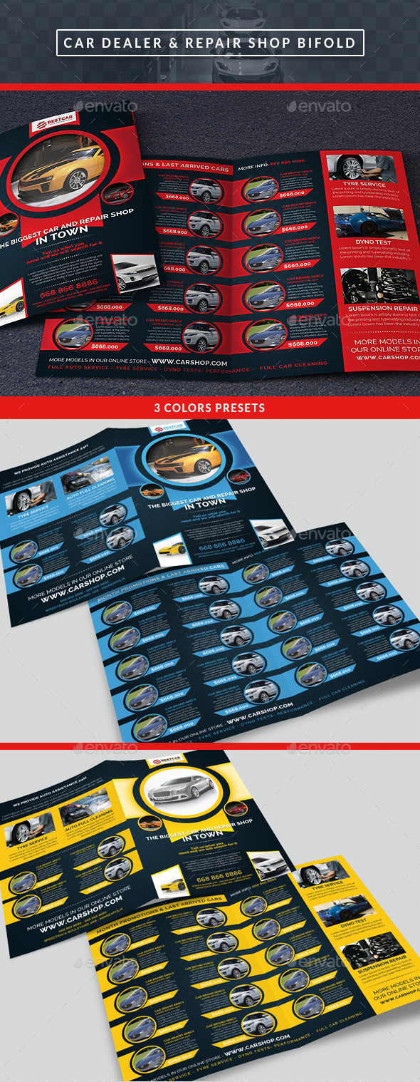 Car Dealer & Auto Services Bifold Brochure - Catalogs Brochures
