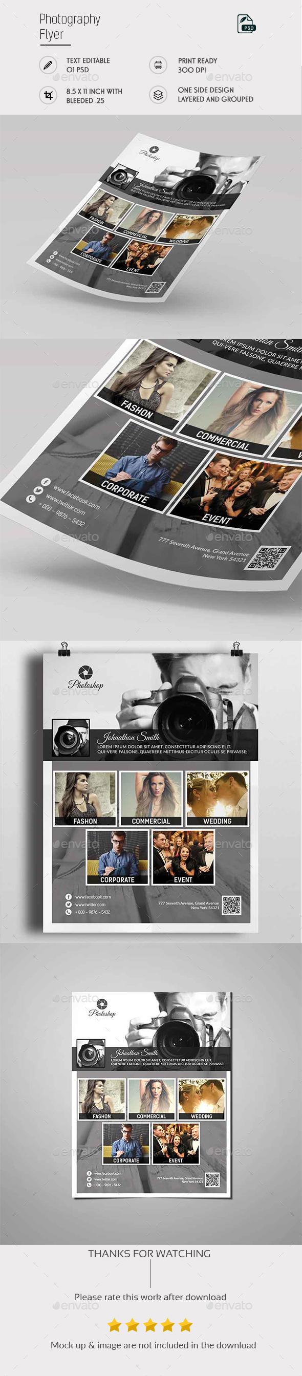 Photography Flyer Template - Flyers Print Templates