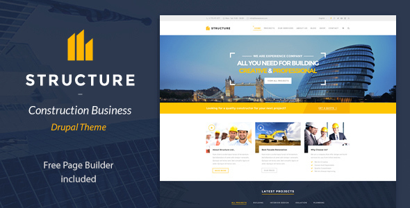 Structure - Construction Drupal Theme - Business Corporate