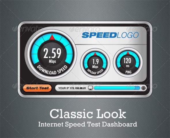 Classic Look Internet Speed Test Dashboard - Man-made Objects Objects