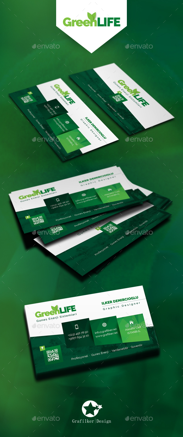 Green energy business card templates by grafilker graphicriver green energy business card templates corporate business cards reheart