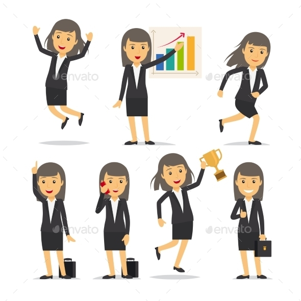 Businesswoman Character Vector - People Characters