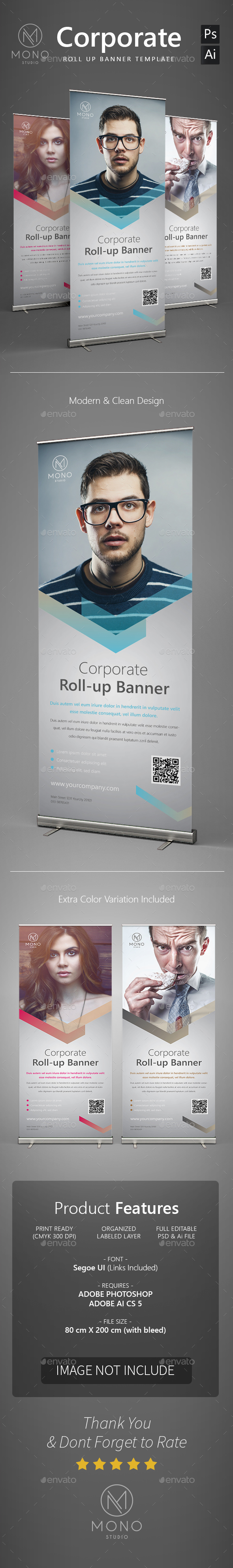 Corporate Roll Up Banner 2 - Signage Print Templates