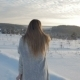 Girl In The Winter Forest At Sunset - VideoHive Item for Sale