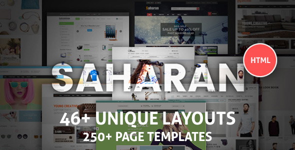 Saharan - Multipurpose Bootstrap eCommerce Template - Shopping Retail