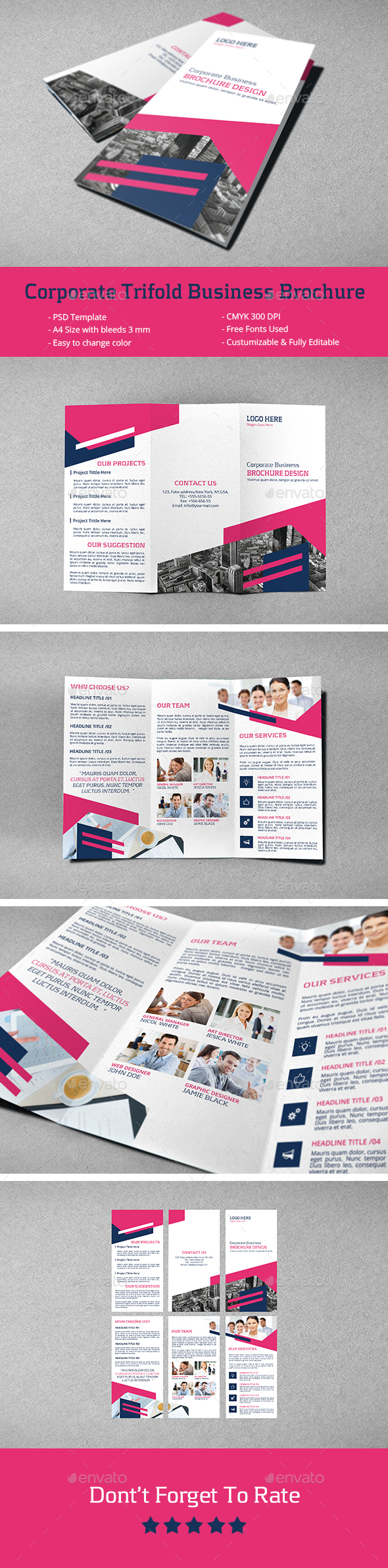 Corporate Trifold Business Brochure - Corporate Brochures