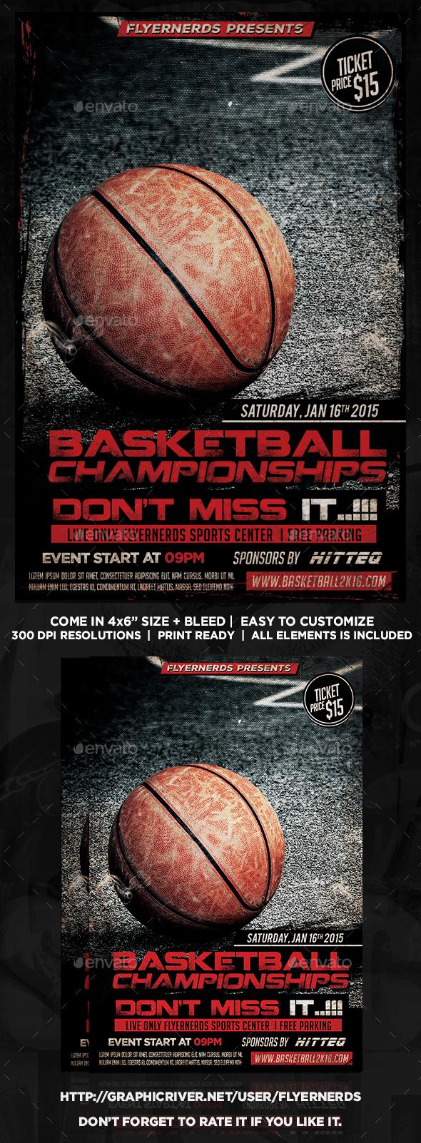 Basketball Championships 2K16 Sports Flyer - Sports Events