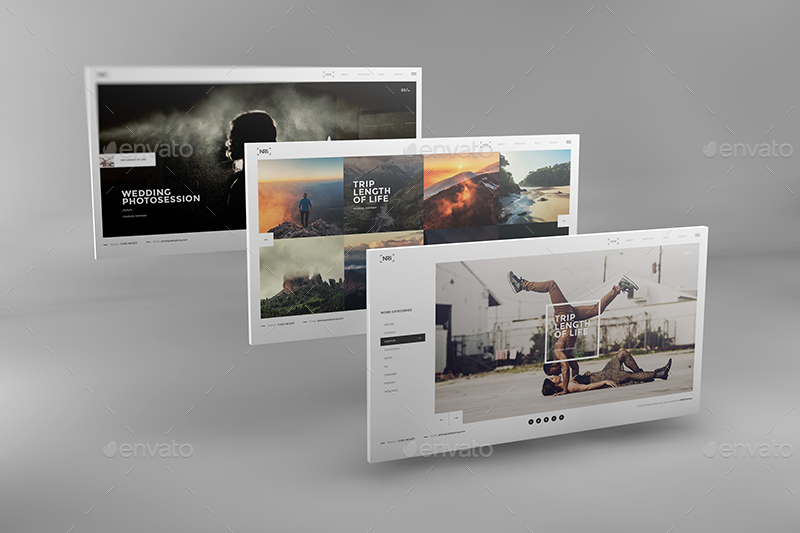 3D Desktop Screen Mockups by Wutip | GraphicRiver