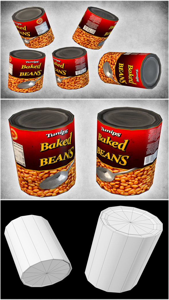 Canned Beans - 3DOcean Item for Sale