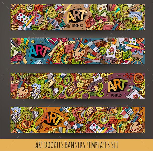 Art Banners Design Templates - Conceptual Vectors