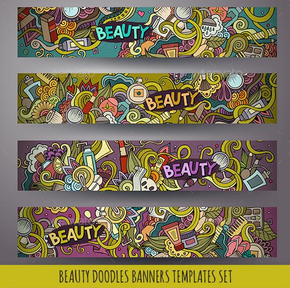 Cosmetics Banners Design Templates - Health/Medicine Conceptual