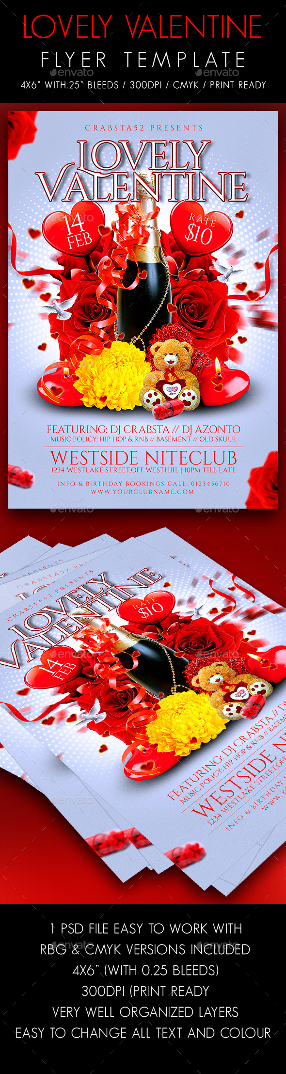 Lovely Valentine Flyer Template - Events Flyers