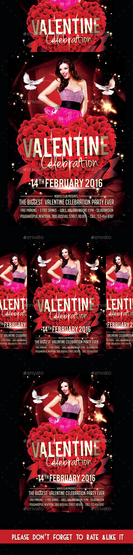 Valentine Day Celebration Party Flyer - Flyers Print Templates
