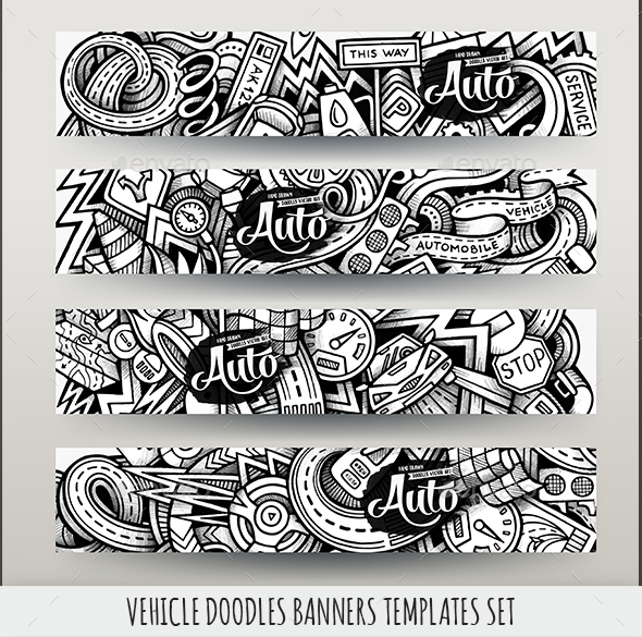 Vehicle Banners Design Templates - Conceptual Vectors