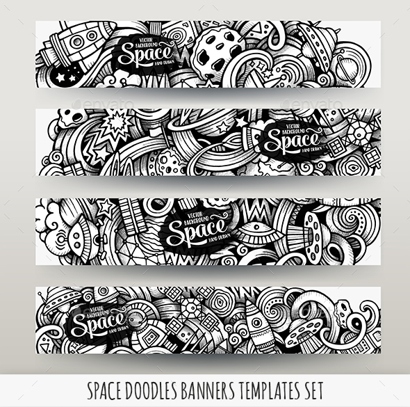 Space Banners Design Templates - Technology Conceptual