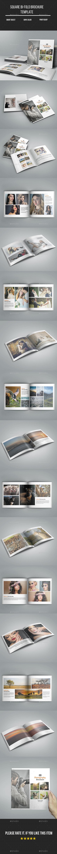 Photography Square Bi- Fold Brochure - Portfolio Brochures