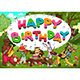 Happy Birthday Card with Funny Musician Animals - GraphicRiver Item for Sale