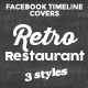 Retro Restaurant - Facebook Timeline Covers and Box Profile - GraphicRiver Item for Sale