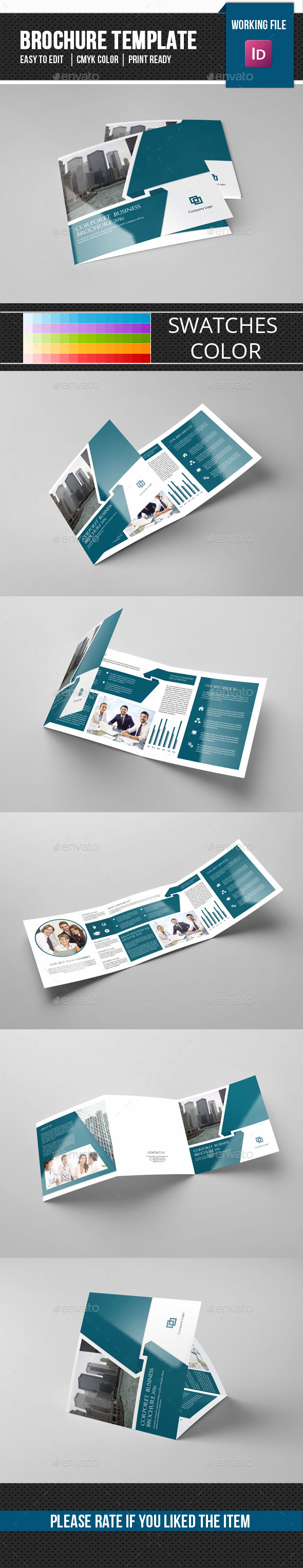 Corporate Square Trifold Brochure-V80 - Corporate Brochures