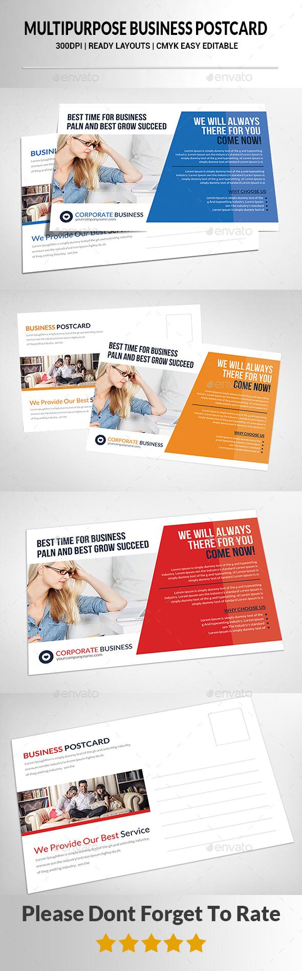Multipurpose Business Postcard - Cards & Invites Print Templates