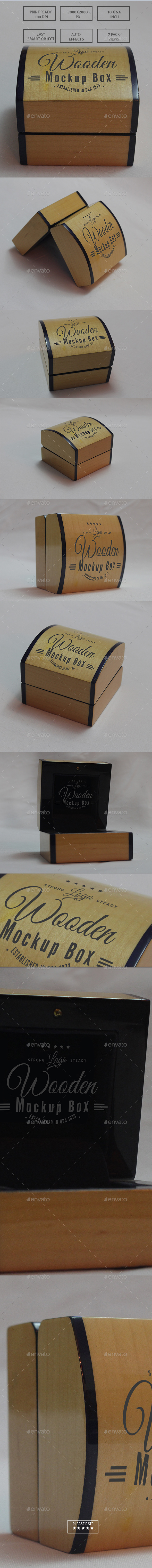 Wooden Mockup Box - Miscellaneous Packaging