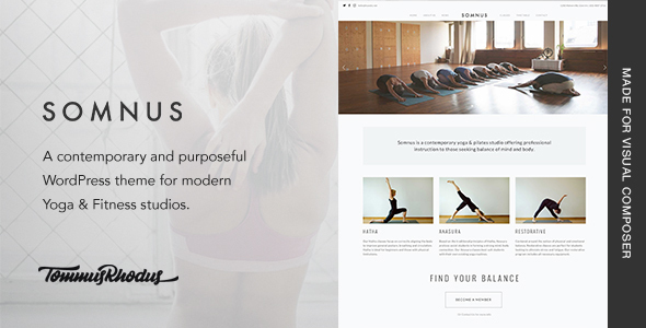 Somnus - Yoga & Fitness Studio WordPress Theme - Health & Beauty Retail