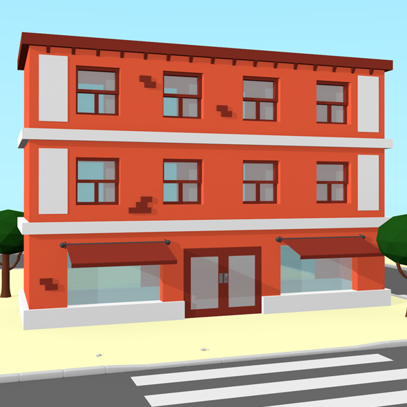 Low Poly Building - 3DOcean Item for Sale