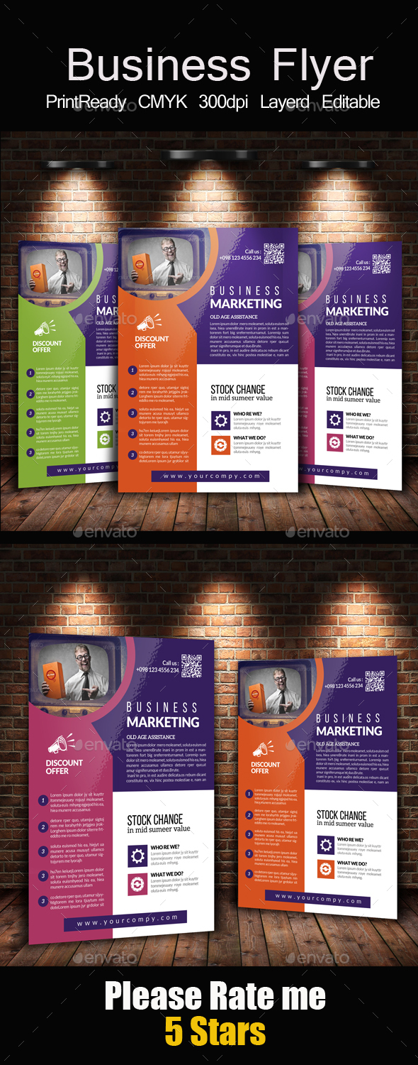 Advertising Company Flyer Template - Corporate Flyers