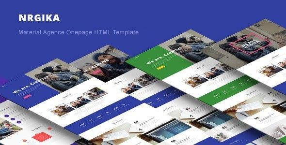 NRGika – Premium OnePage Portfolio Template
