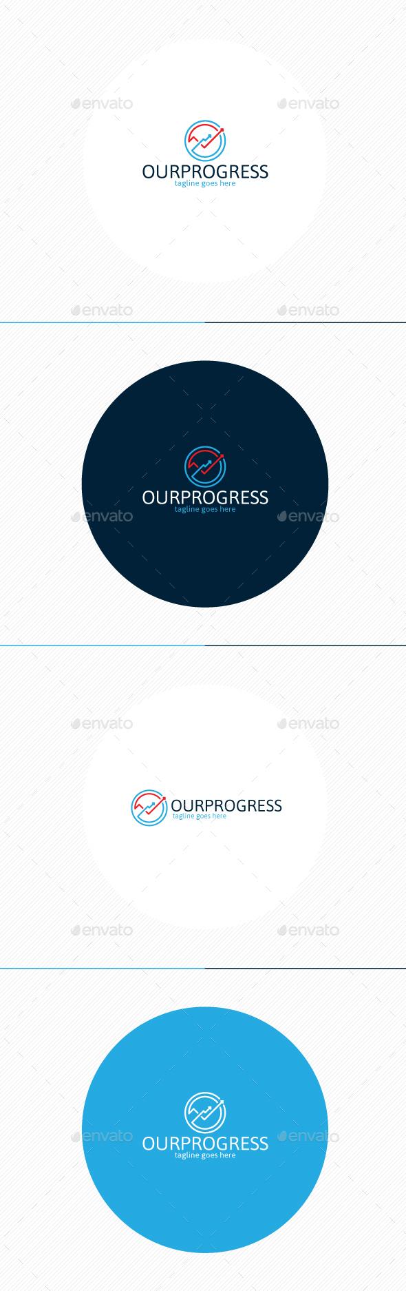 Our Progress Logo - Symbols Logo Templates