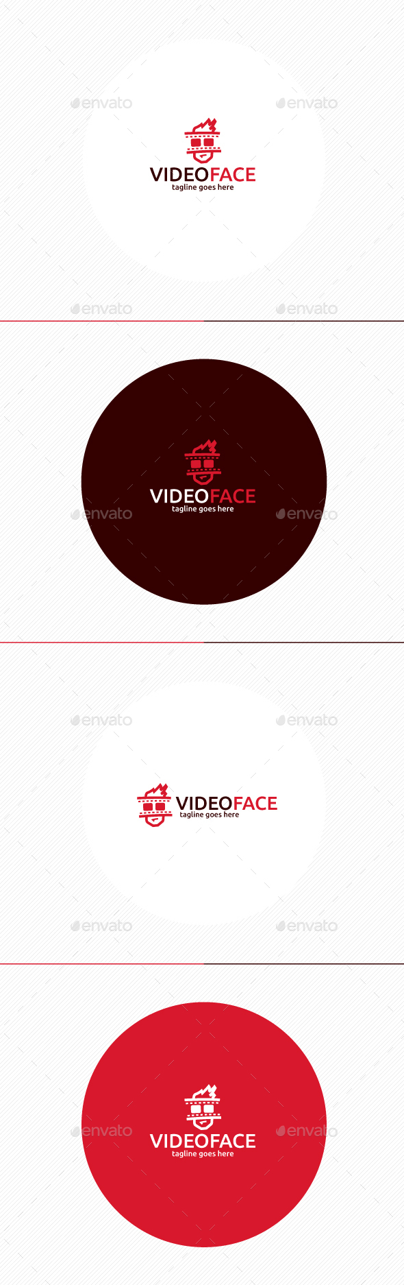 Video Face Logo - Humans Logo Templates