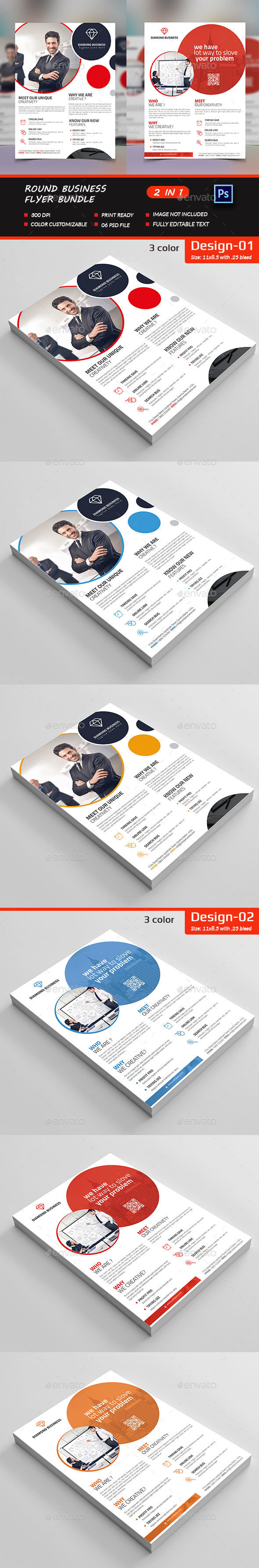 Round Business Flyer Bundle - Corporate Flyers