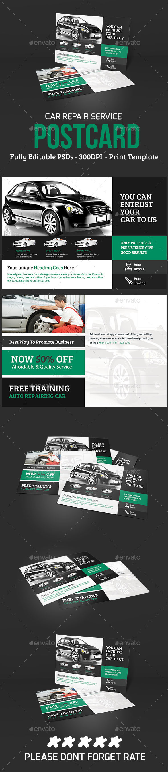 Car repair Service PostCard - Cards & Invites Print Templates