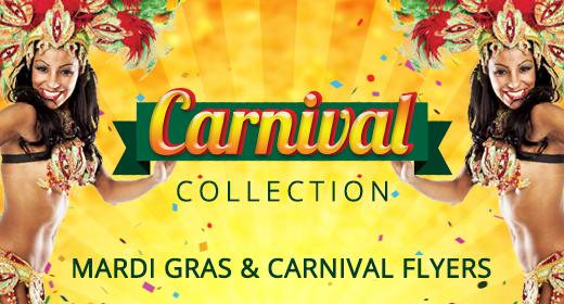 Carnival Mardi Gras Flyers