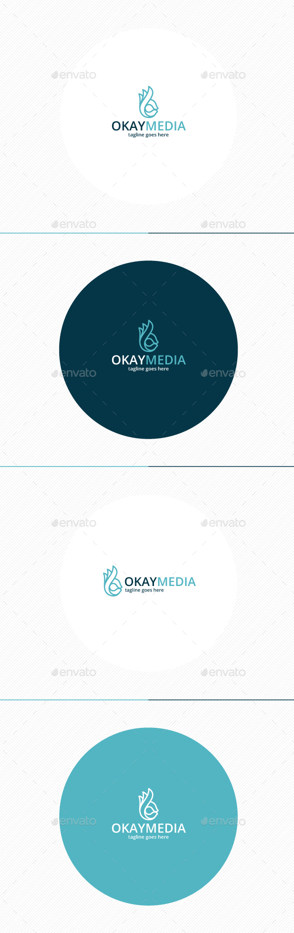 Okay Media Logo - Symbols Logo Templates
