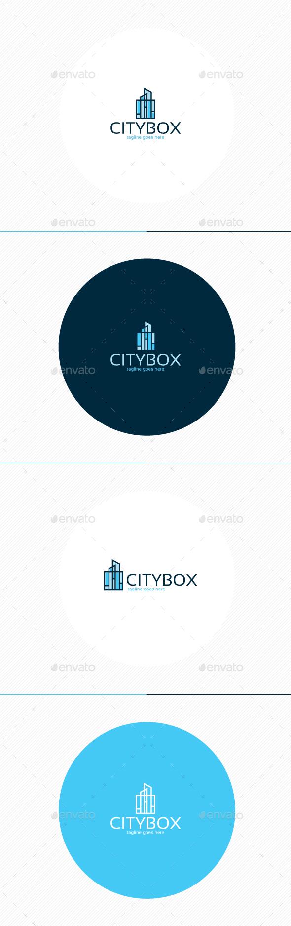 City Box Logo - Buildings Logo Templates